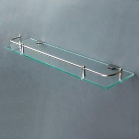 Полка для ванной комнаты 40×11.5×4 см, металл, стекло