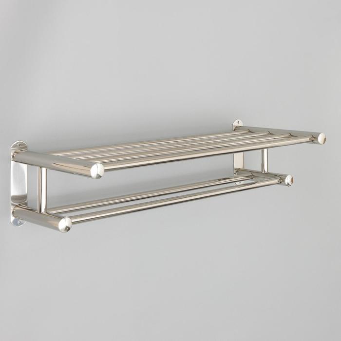Полка с держателем полотенец, 59,5×22,5×15,3 см