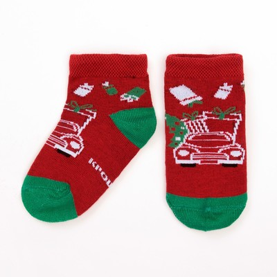 "Socks Baby I ""New year. Machine"" 8-10 cm, 100% cotton"