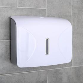 Dispenser for paper towels in sheets, 21.5×9×26.5 cm, plastic, white