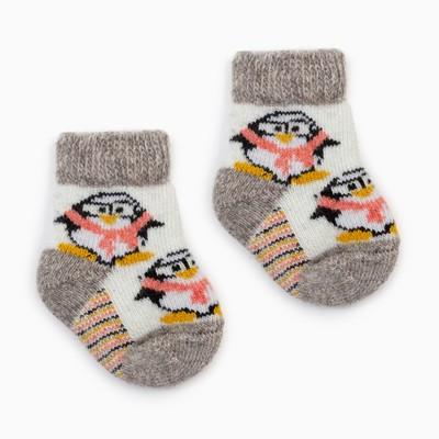 Носки детские шерстяные «Пингвин», цвет белый, размер 10