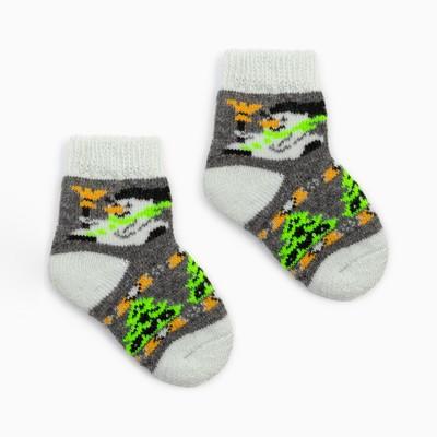 """Носки детские шерстяные """"Снеговик"""", цвет серый, размер 10"""
