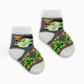 Носки детские шерстяные «Снеговик», цвет серый, размер 20