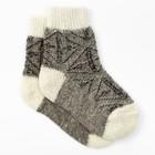 Носки детские шерстяные Фактурная вязка, цвет белый, размер 22