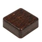 Коробка распределительная T-plast, 75х75х28 мм, венге, 50.12.004.0005,