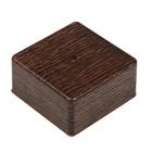 Коробка распределительная T-plast, 100х100х50 мм, венге, 50.12.006.0005,