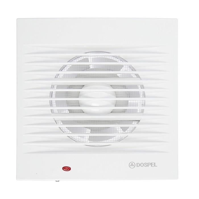 Вентилятор осевой, москитная сетка, d=100 мм, 220 В, 15 Вт, белый
