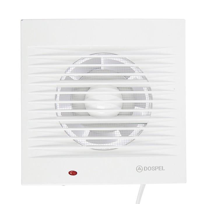 Вентилятор осевой, москитная сетка, провод, d=100 мм, 220 В, 15 Вт, белый