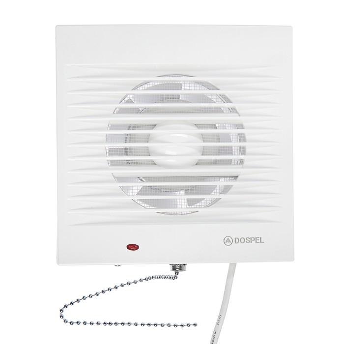 Вентилятор осевой, москитная сетка, с выключателем, d=100 мм, 220 В, 15 Вт, белый