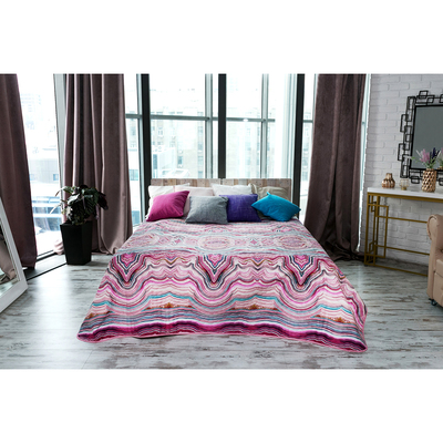 "Blanket Onyx, a 1.5-SP., ""Ethel: Minerals"", 150 × 220 cm microfiber (100% polyester)"