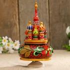 Сувенир музыкальный «Храм», деревня 25 см