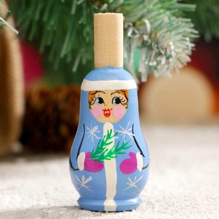 Свистулька «Снегурочка», 3х7 см, микс