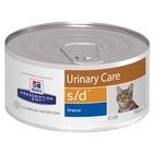 Влажный корм Hill's Cat s/d для кошек, растворение струвитов, ж/б, 156 г