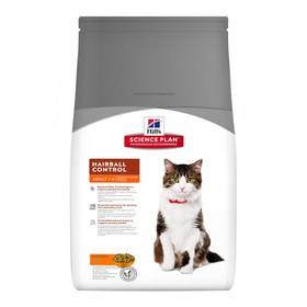 Сухой корм Hill's Cat hairball control для кошек, выведение шерсти, 1,5 кг