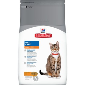 Сухой корм Hill's Cat oral care для кошек, удаление зубного камня, курица, 1.5 кг