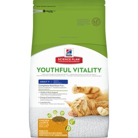 Сухой корм Hill's SP senior youthful vitality для кошек с 7 лет, курица, 1.5 кг