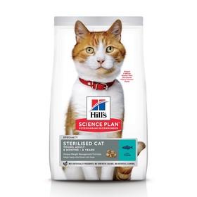 Сухой корм Hill's Cat sterilised young adult для стерилизованных кошек, тунец, 1.5 кг