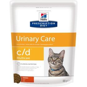 Сухой корм Hill's PD c/d multicare Urinary Care для кошек, профилактика МКБ, курца, 400 г
