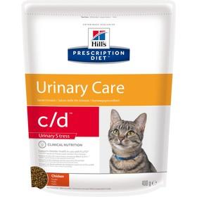 Сухой корм Hill's PD c/d mult. urinary stress для кошек, проф-ка цистита и МКБ, курица, 400г