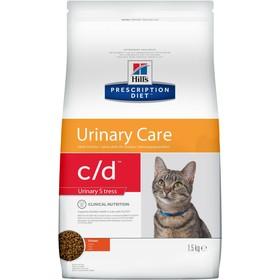 Сухой корм Hill's PD c/d urinary stress для кошек, проф-ка цистита и МКБ, курица, 1.5 кг
