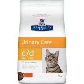 Сухой корм Hill's PD c/d multicare Urinary Care для кошек, профилактика МКБ, 10 кг