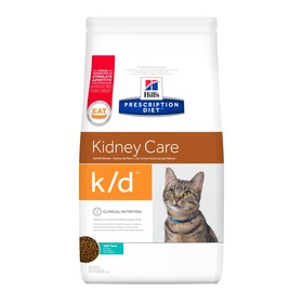 Сухой корм Hill's Cat k/d для кошек, лечение II стадии почечной недостаточности, тунец, 1.5 кг