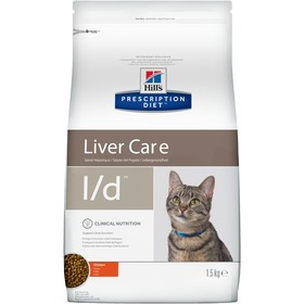 Сухой корм Hill's PD l/d Liver Care для кошек, при заболеваниях печени, 1.5 кг
