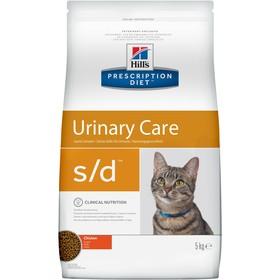Сухой корм Hill's PD s/d urinary care для кошек, растворение струвитов, курица, 5 кг