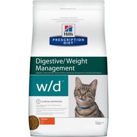 Сухой корм Hill's PD w/d для кошек, при поддержании веса и сахарном диабете, курица, 5 кг