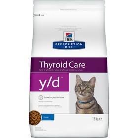 Сухой корм Hill's PD y/d Thyroid Care для кошек, при заболеваниях щитовидной железы, 1.5 кг