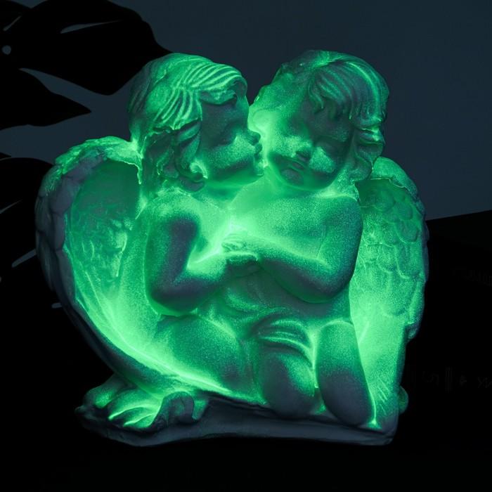 "Светящаяся фигура ""Пара ангелов сидя"" 29х14х28см белая"