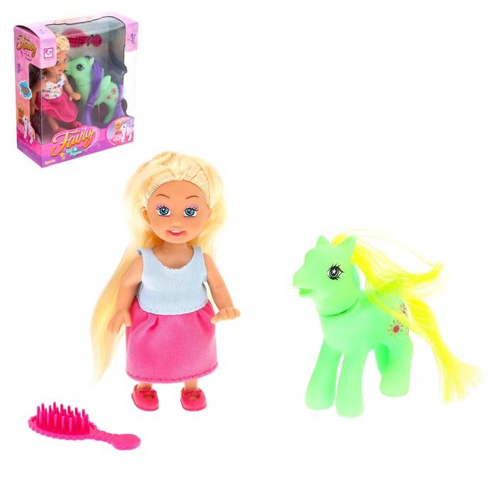 """Кукла малышка """"Ева"""" с пони, МИКС"""