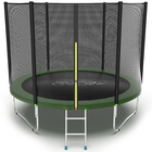 Батут с внешней сеткой и лестницей EVO JUMP External, диаметр 10ft (зеленый)