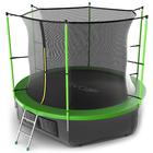 Батут с внутренней сеткой и лестницей EVO JUMP Internal, диаметр 10ft (зеленый) + нижняя сеть   3794