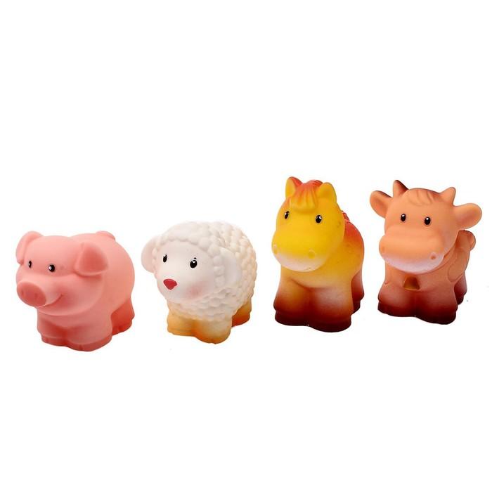 """Набор резиновых игрушек """"Домашние животные"""""""
