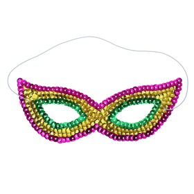 """Carnival mask """"Riddle"""" with sequins"""