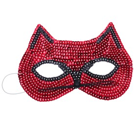 """Carnival mask """"Cat"""" with sequins, color red"""