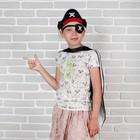 """Карнавальный набор """"Пират"""" 3 предмета: двухсторонняя накидка, шляпа, наглазник"""
