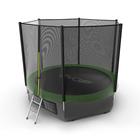 Батут с внешней сеткой и лестницей EVO JUMP External, диаметр 10ft (зеленый) + нижняя сеть