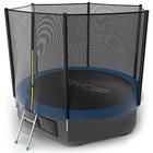 Батут с внешней сеткой и лестницей EVO JUMP External, диаметр 10ft (синий) + нижняя сеть