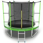Батут с внутренней сеткой и лестницей EVO JUMP Internal, диаметр 8ft (зеленый)
