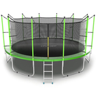 Батут с внутренней сеткой и лестницей EVO JUMP Internal, диаметр 16ft (зеленый)