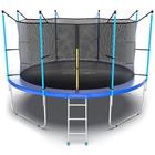 Батут с внутренней сеткой и лестницей EVO JUMP Internal, диаметр 12ft (синий)