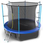 Батут с внутренней сеткой и лестницей EVO JUMP Internal, диаметр 10ft (синий) + нижняя сеть   379460
