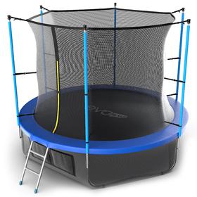 Батут EVO JUMP Internal 10 ft, d=305 см, с внутренней сеткой, нижней сеткой и лестницей, синий