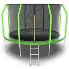 Батут с внутренней сеткой и лестницей EVO JUMP Cosmo, диаметр 12ft (зеленый)