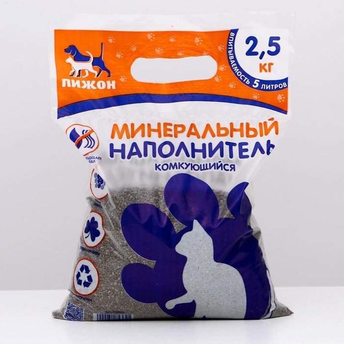 "Наполнитель комкующийся ""Пижон"", 5 л - 2,5 кг"