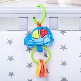 Подвеска музыкальная «Машинка» на кроватку/коляску цвета МИКС