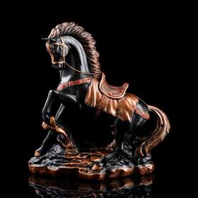"""Сувенир """"Грациозный конь"""", чёрный, 37 см"""