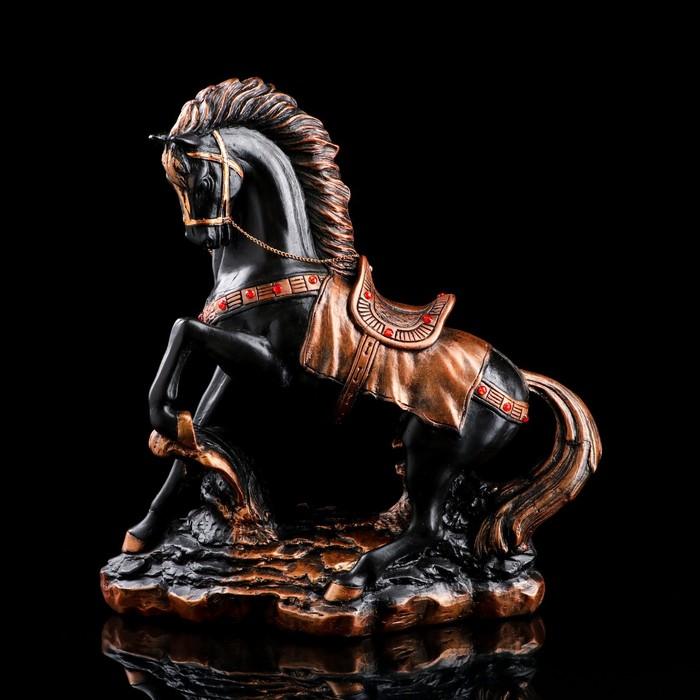 """Сувенир """"Грациозный конь"""", вороной со стразами - фото 369715639"""